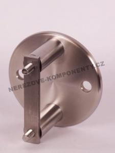Seitenverankerung des Pfostens 42,4 mm - 2x Schraube + runde Platte