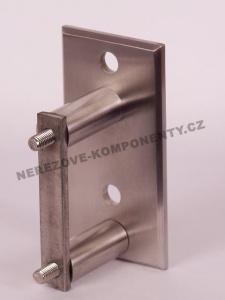 Seitenverankerung des Pfostens 42,4 mm - 2x Schraube + eckige Platte