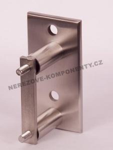 Seitenverankerung des Pfostens 40x40 mm - 2x Schraube + eckige Platte
