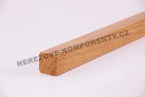 Holzhandlauf Eiche eckig 45x40 mm - 3 m