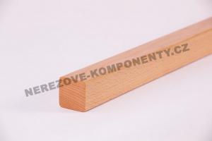 Holzhandlauf Buche eckig 45x40 mm