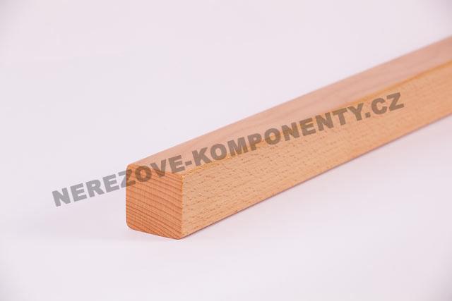 Holzhandlauf Buche eckig 45x40 mm - 1 m