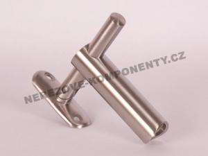 Handlaufhalter außer Achse - Pfosten 42,4 mm verstellbar