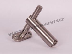 Handlaufhalter außer Achse - Pfosten 42,4 mm (verstellbar HM)