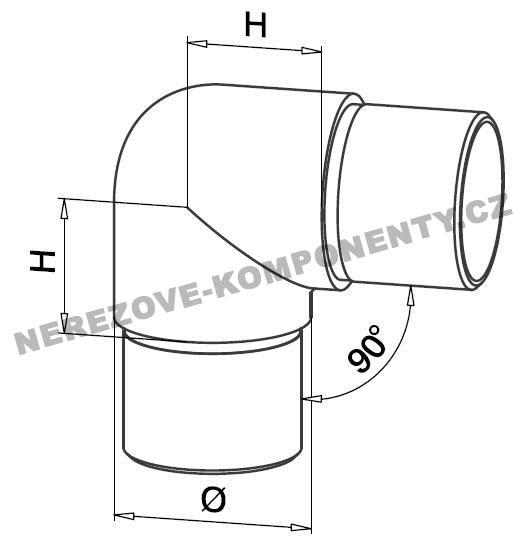 verbinder des rostfreien handlaufs 42 4 mm 90 grad abgerundet handlaufverbinder und. Black Bedroom Furniture Sets. Home Design Ideas