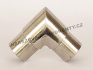 Verbinder des rostfreien Handlaufs 42,4 mm - 90 Grad (kantig)