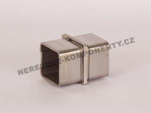 Verbinder des rostfreien Handlaufs 40x40 mm - gerade