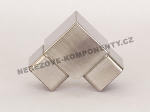 Verbinder des rostfreien Handlaufs 40x40 mm - 90 Grad