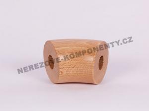 Der Verbinder des Holzhandlaufes 45 mm - 45 Grad - Buche
