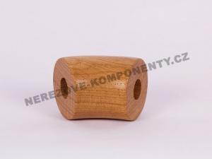 Der Verbinder des Holzhandlaufes 45 mm 45 Grad - Eiche