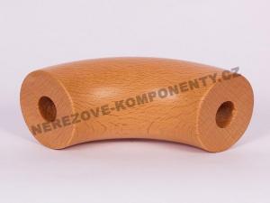 Verbinder des Holzhandlaufs 45 mm - 90 Grad - Buche