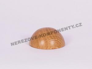 Endstück des Holzhandlaufes 45 mm halbrund - Eiche