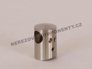 Edelstahl-Stabhalter 12 mm - Verbinder durchlaufend