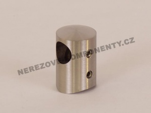 Edelstahl-Stabhalter 12 mm - seitlich-links