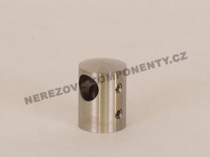 Edelstahl-Stabhalter 12 mm - seitlich-links HS