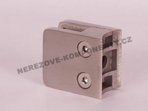 Glashalter für Geländer eckig - Modell 21 KS