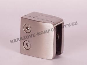 Glashalter für Geländer eckig - Modell 26 HS