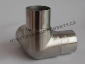 Verbinder des Edelstahlhandlaufs 42,4 mm - T-Eckstück