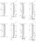Edelstahlpfosten 40x40 mm - ober- Stab 12 mm