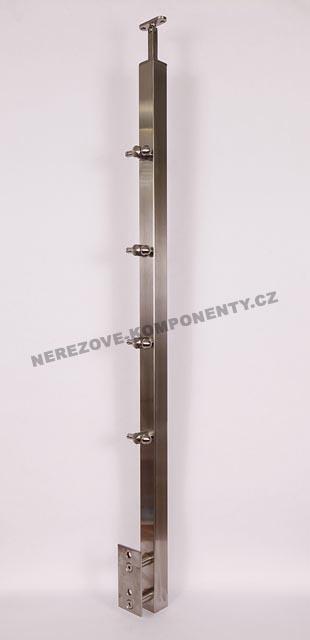 Edelstahlpfosten 40x40 mm - seitig - Seil 5 mm