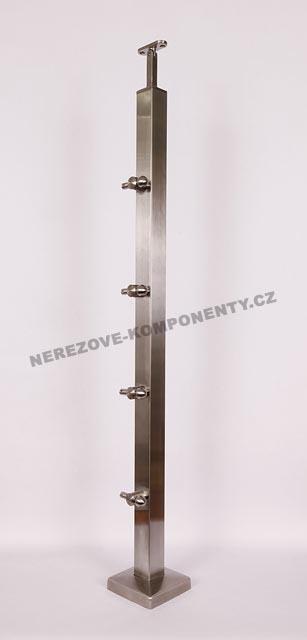 Edelstahlpfosten 40x40 mm - ober- Seil 5 mm