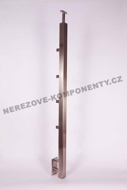 Edelstahlpfosten 40x40 mm - seitig - Stab 10x10 mm