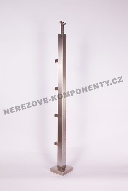 Edelstahlpfosten 40x40 mm - ober- Stab 10x10 mm