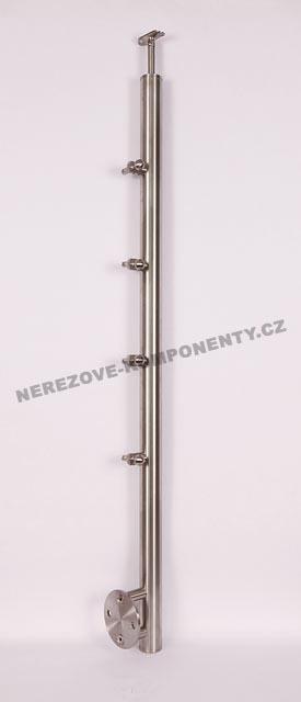 Edelstahlpfosten 42,4 mm - seitig - Seil 5 mm