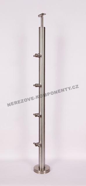 Edelstahlpfosten 42,4 mm - ober- Seil 5 mm