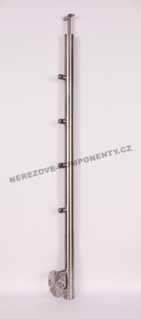 Edelstahlpfosten 42,4 mm - seitig - Stab 12 mm