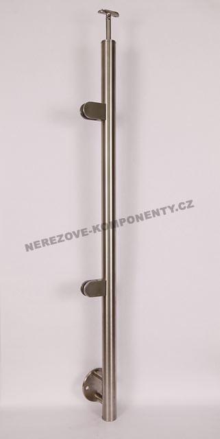 Edelstahlpfosten 42,4 mm -seitig - Glas